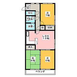 アーク稲元[4階]の間取り