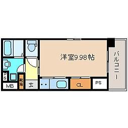 グランエターナ名古屋鶴舞[1404号室]の間取り