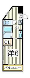 フロントサウス[3階]の間取り