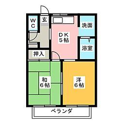 メゾン美果[1階]の間取り