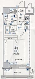 都営大江戸線 両国駅 徒歩7分の賃貸マンション 8階1Kの間取り