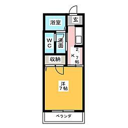 コンフォール鶴里[1階]の間取り