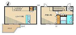クリエイティブ ガーデン桜坂 地下1階1LDKの間取り