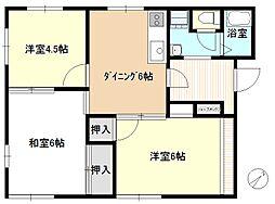 サニーサイド茅ヶ崎[1階]の間取り