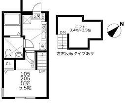 Steer Odasaga[2階]の間取り