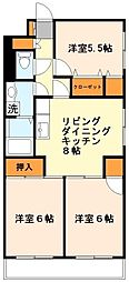 神奈川県川崎市多摩区菅5丁目の賃貸マンションの間取り