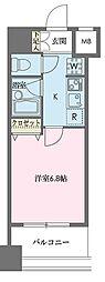 ドゥーエ新川[1205号室]の間取り