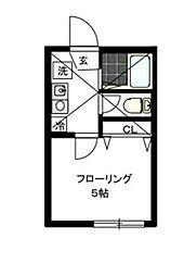 神奈川県川崎市多摩区枡形2丁目の賃貸アパートの間取り