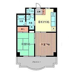 たまプラーザ第3エステービル[201号室号室]の間取り