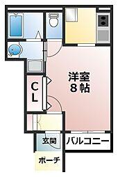 エムネージュ薬円台II[1階]の間取り