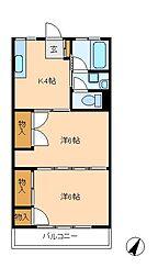 ウインド上本郷[2階]の間取り