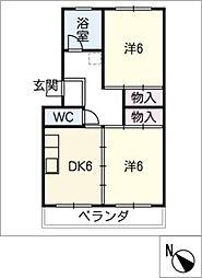 斉藤コーポ[4階]の間取り