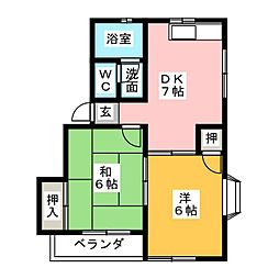 メゾニティ神郷[2階]の間取り