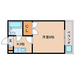 静岡県静岡市清水区長崎南町の賃貸マンションの間取り
