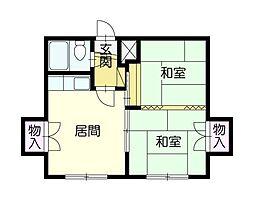 北斗ビル[4階]の間取り