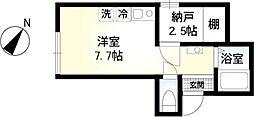 京王井の頭線 西永福駅 徒歩5分の賃貸アパート 1階ワンルームの間取り