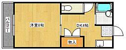 篠山ハイツ[1階]の間取り