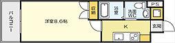 No65クロッシングタワ-ORIENT BLD[217号室]の間取り