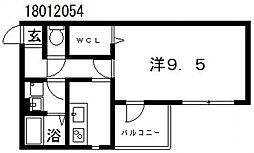 グランブルー[3階]の間取り
