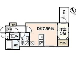 セブンプロート坪井 B棟[1階]の間取り