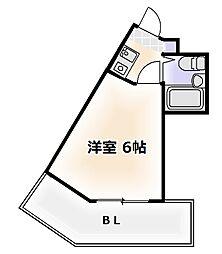 大阪府大阪市浪速区恵美須東2丁目の賃貸マンションの間取り