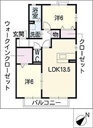 シャルムT C棟[1階]の間取り