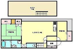 [一戸建] 兵庫県神戸市東灘区魚崎北町6丁目 の賃貸【/】の間取り