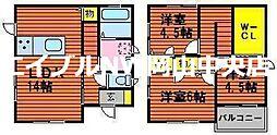 [一戸建] 岡山県岡山市中区高島新屋敷 の賃貸【岡山県 / 岡山市中区】の間取り