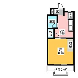 イースト8[1階]の間取り
