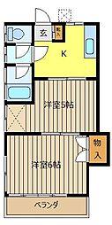 藤井荘[202号室]の間取り