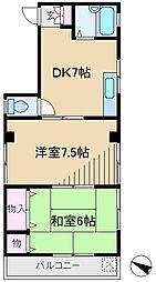 東京都荒川区東尾久4丁目の賃貸マンションの間取り