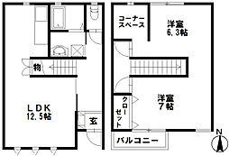 [テラスハウス] 石川県野々市市住吉町 の賃貸【/】の間取り