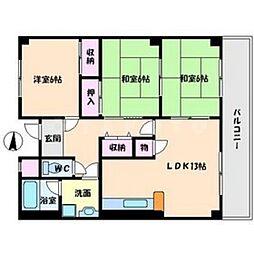 第5清涼マンション[4階]の間取り