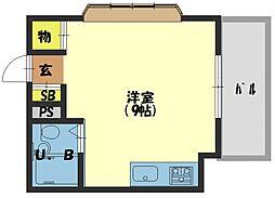 ロータリーマンション中町[3階]の間取り
