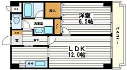 大阪府大阪市天王寺区伶人町の賃貸マンションの間取り