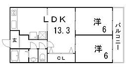 シャトードフェニックス[5階]の間取り