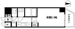 EARTHMANS OSAKA-JO 8階1Kの間取り