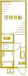 コーポ草風A[2階]の間取り