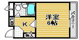 湯川マンション津久野[203号室]の間取り
