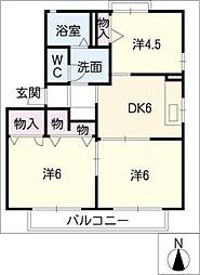 ヴィラグレイス B棟[2階]の間取り