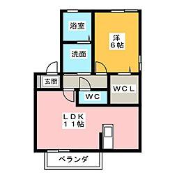 リビングタウン桃の里A.B.C[1階]の間取り
