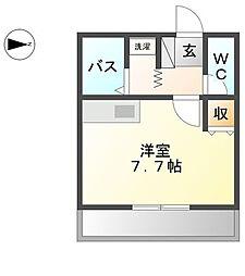 コンフォース中平[1階]の間取り