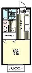 セジュールMAI[203号室号室]の間取り