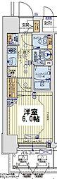 レオンコンフォート京橋EAST 12階1Kの間取り