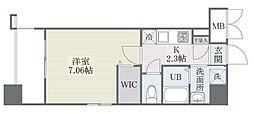 西鉄天神大牟田線 高宮駅 徒歩21分の賃貸マンション 7階1Kの間取り