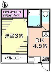 長谷川ハイツ[1階]の間取り