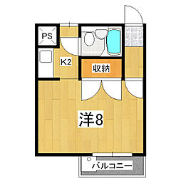 ボーウインドウ東福寺[1階]の間取り
