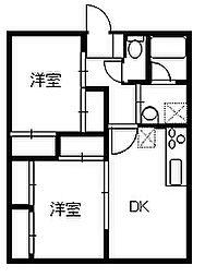 ペットマンションK&S[105号室]の間取り