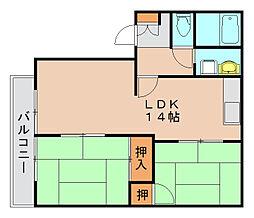 フレグランス箱崎[2階]の間取り