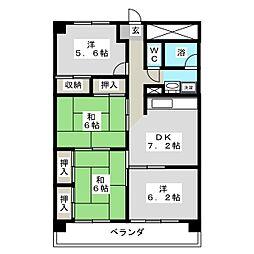 厚生町クラウンズマンション[9階]の間取り